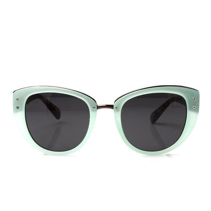 lunettes verte et avec pont fumée lentilles soleil menthe dor dames de rétro de q6t5a