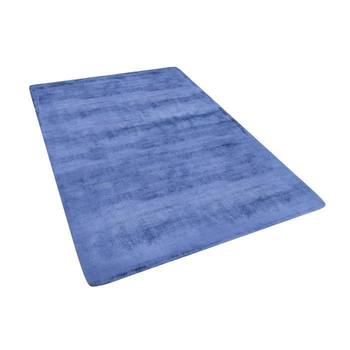 tapis bleu marine en viscose 140 x 200 cm gesi - Tapis Bleu Marine