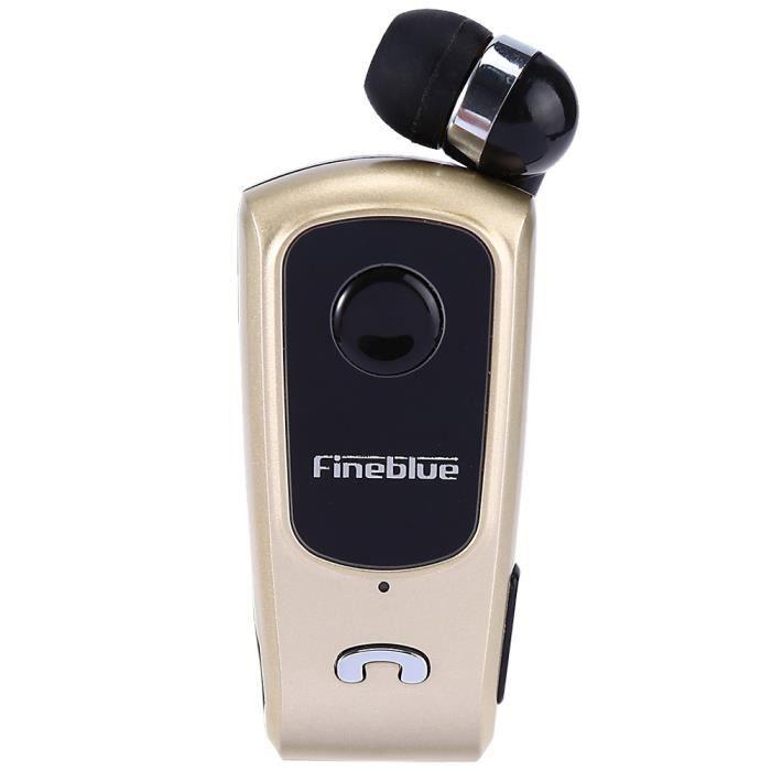 Fineblue F920 Casque Stéréo Bluetooth 4.0 Vibreur Multi-connexion Câble Rétractable - Or