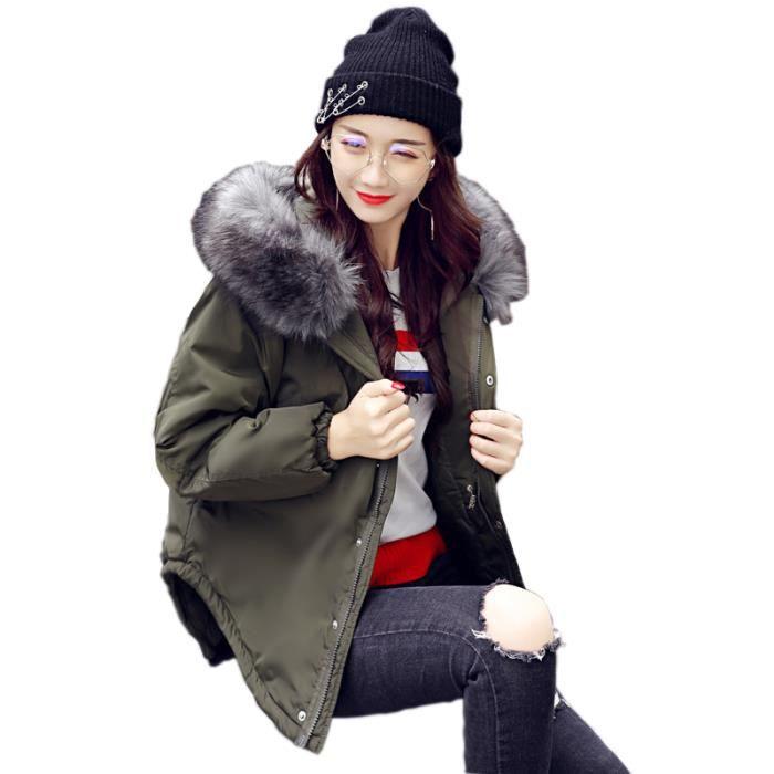 Manteau Fourrure Doudoune Mode Chaud Court Unie Femme Parka Col En Mignon Vêtements Épaissir D'hiver De Capuche Couleur Vrac xvrPZx