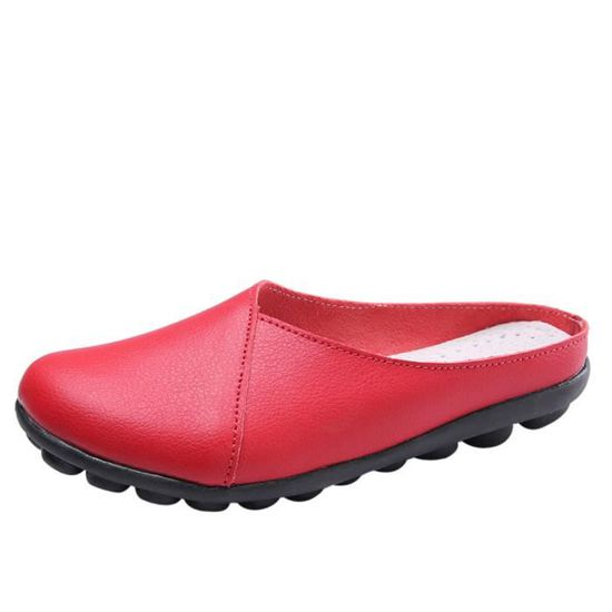 Zareste®Flats Pure Color Soft Chaussures Bottom Chaussures pour femmes Chaussures Soft Slip-On Casual bateau LJD80327892RD rouge Rouge Rouge - Achat / Vente slip-on d04c60