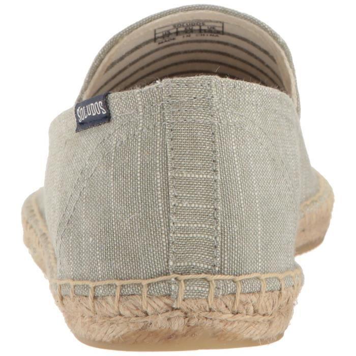 Striped Linen Smoking Slipper Sandal CRI0H Taille-40 1-2