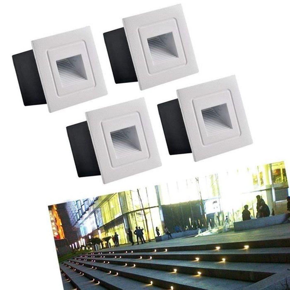 4 Eclairage Led Pour Terrasse Spot Lot Lampe 3w De Encastré O0Pwkn
