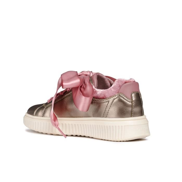 Discomix 000nf C9003 Ragazza Platino Geox J847yb on Rouches Sneakers Basse Bambina Slip Con wUzZ6z