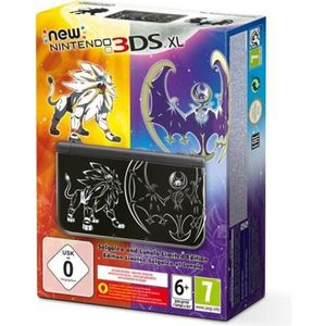 CONSOLE NEW 3DS XL New 3DS XL Noire Pokemon Soleil et Lune (sans jeu)