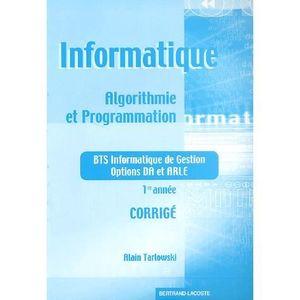 MANUEL BTS Informatique Algorithmie et programmation BTS Info