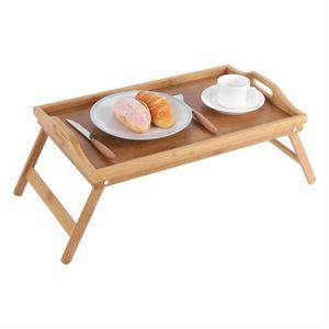TABLE D'APPOINT   Plateau de lit portatif en bambou Petit déjeuner