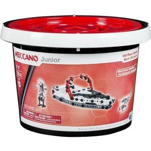 ASSEMBLAGE CONSTRUCTION MECCANO Baril 150 Pièces Meccano Junior SpinMaster