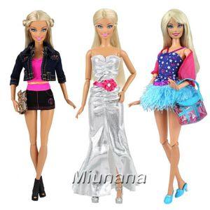 ACCESSOIRE POUPÉE Miunana Vetêment pour Barbie Tenues Décontractée R