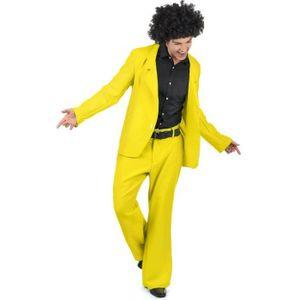DÉGUISEMENT - PANOPLIE Déguisement disco jaune adulte