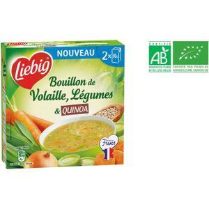 BOUILLON - FOND SAUCE Bouillon de volaille, légume et quinoa bio - 2 x 3