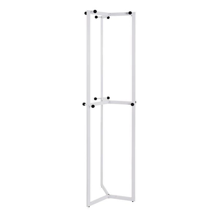 Porte manteaux Sumdo 48x180x48 cm blanc et noir