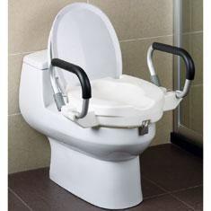 Réhausseur WC HESTEC - Avec accoudoirs