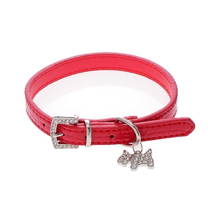 Collier Pour Chien Puppy Chat Ras Du Cou Rouge S Nba250 Bl54936