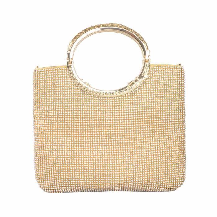 Womens Crystal Rhinestone Evening Bags Wedding Clutch Purse With Bow Frame P93WF