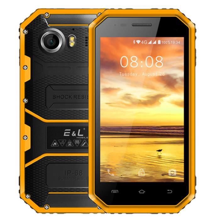 SMARTPHONE EL W6 4.5 pouces Android 6.0 Smartphone 4G MTK6735
