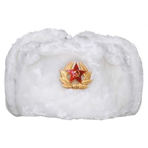 BONNET DE SPORT Chapeau Chapka URSS Russe Blanch.