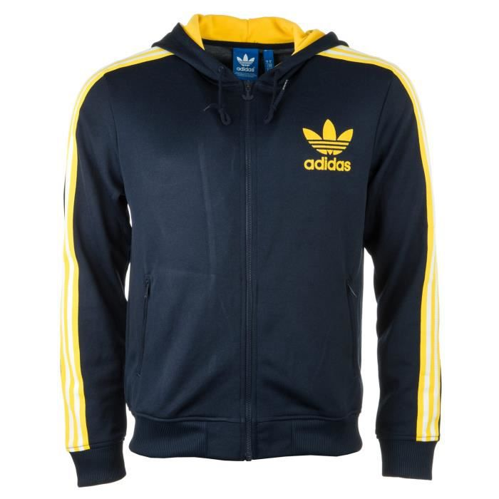 Zippé Capuche Flock Achat Originals Adidas Noir Homme À Sweat z7I1q