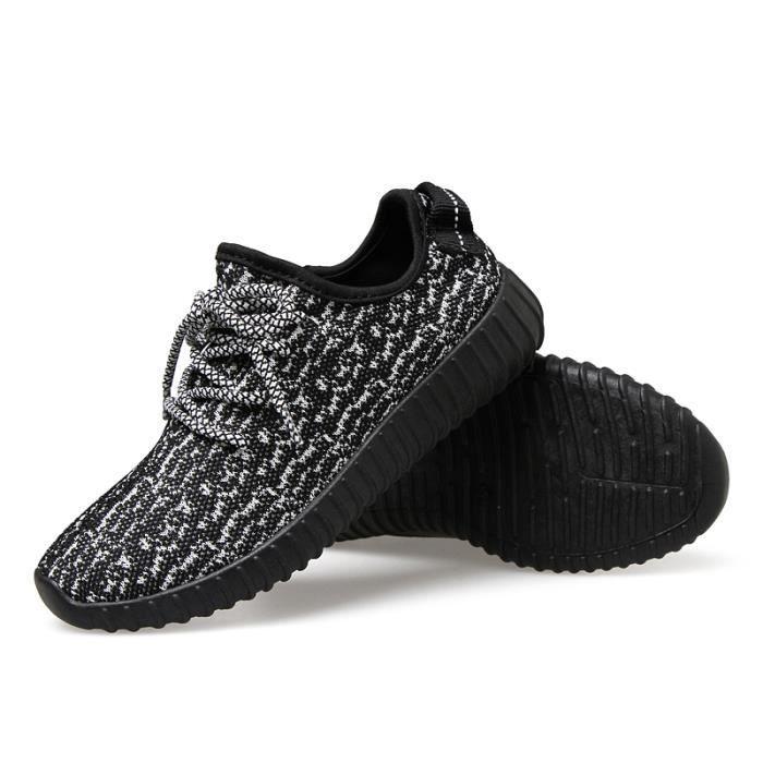 Femme Hommes chaussures respirant plat avec den...