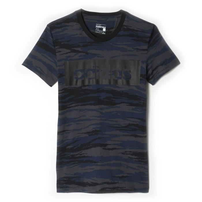 Adidas Linear Essentials T Shirt Camouflage Performance Sports 8n7OH8xZq