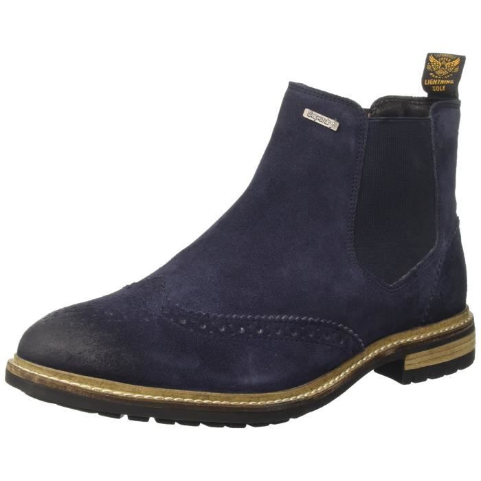 Superdry Achat Hommes Brogue Bottes Brad Chelsea Dpd3s Bleu HUqgPHxW