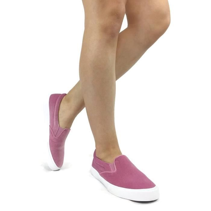 If13 Classic Elastic Panel Slip On Stitched Fashion Sneaker WZZO5 Taille-36 1-2