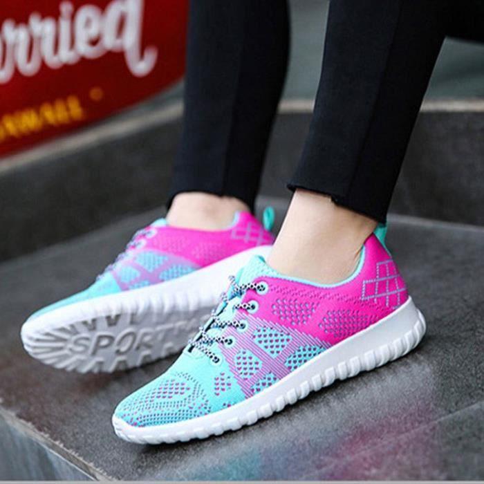 Chaussures de tennis dames de style de la mode chaussures respirant chaussures casual chaussures de tennis,noir,40