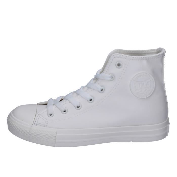 Femme 8o0wknp Chaussures Cuir Everlast Blanc Baskets Bt741 DEHeY2IW9
