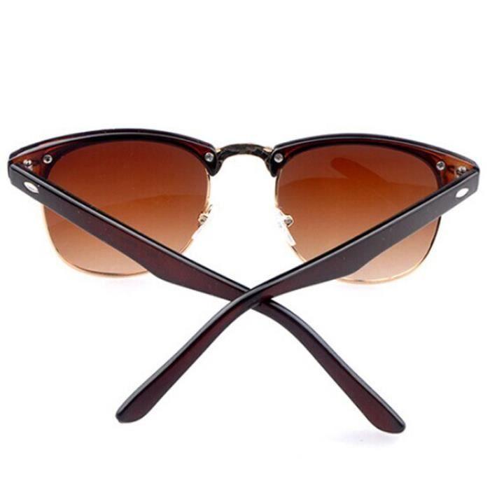 Nouveau rétro vintage Womens Mens designer surdimensionné lunettes de soleil verres Brune