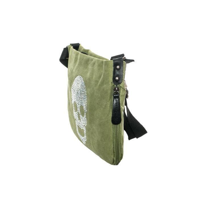Gadzo Dames sac à bandoulière en toile sac à bandoulière Petit sac avec étoile à imprimé Tuckt EE9M2