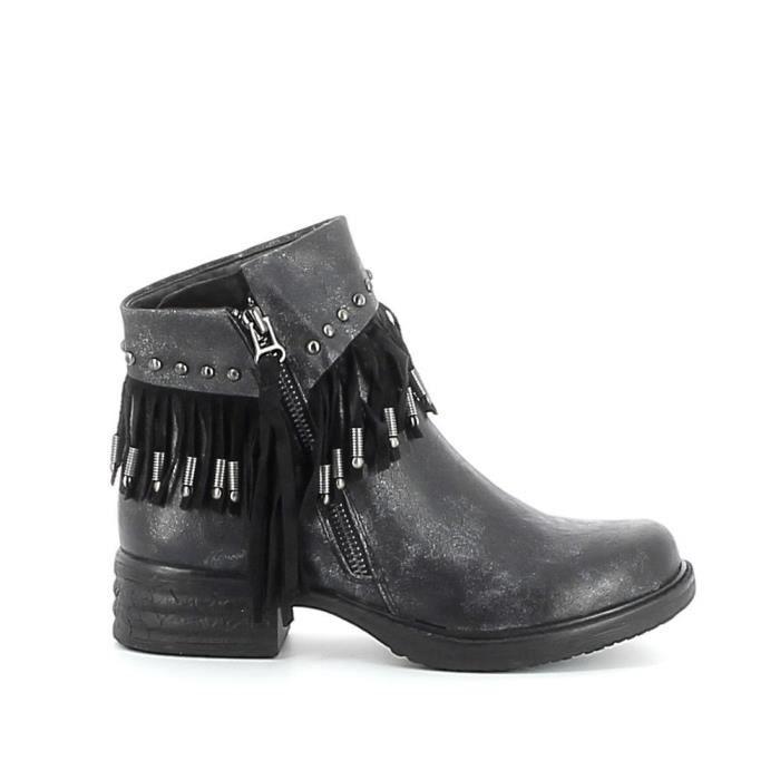 Boots à franges - Noir - 36