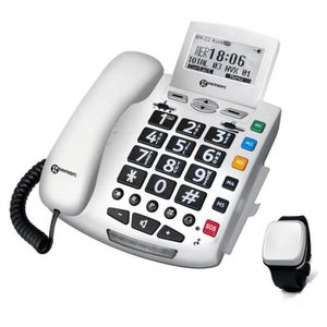 Téléphone fixe Téléphone Filaire Geemarc Serenities + Detection C
