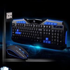 SOURIS Gaming clavier 2.4G sans fil et souris à l'ordinat