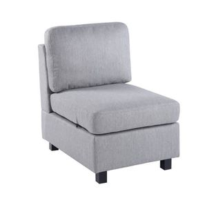 FAUTEUIL FurnitureR Fauteuil en Tissu Contemporain Structur