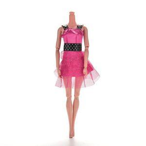 ACCESSOIRE POUPÉE jouet Robes de Barbies poupée Rose Sexy cadeau fil