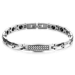 BRACELET - GOURMETTE Bracelet gourmette femme acier magnetique aimante