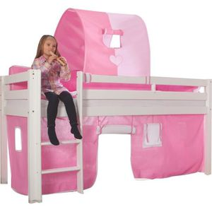 lit fille 90x200 achat vente lit fille 90x200 pas cher cdiscount. Black Bedroom Furniture Sets. Home Design Ideas