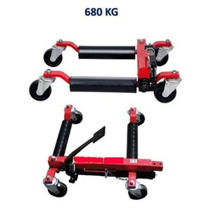 CHARIOT DE GARAGISTE Paire de Chariots Go Jack hydraulique 680 kg cric