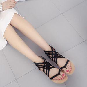 SANDALE - NU-PIEDS Femmes Bohème Sandales plates Chaussures Gladiator