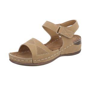 Semelle Tongs Sandales Hqrdtbxsco Compensée Femmes Chaussures Velcro 0PNXZwOk8n