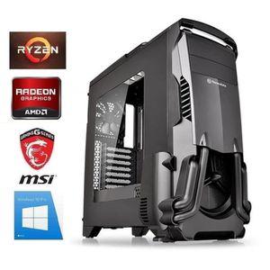 ORDINATEUR TOUT-EN-UN PC Gamer Ryzen 3 - RX 580 8GO - 16GO RAM - SSD 480