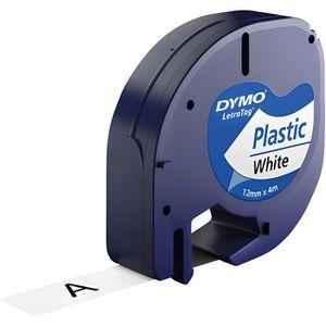 RUBAN - ENCREUR 10 x Cassettes à ruban pour Dymo LetraTag LT-100H,