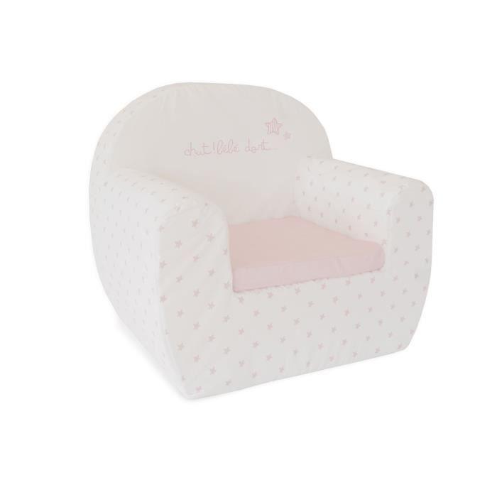 ABSORBA Canapé déhoussable Chut bébé dort - 100% coton - Rose