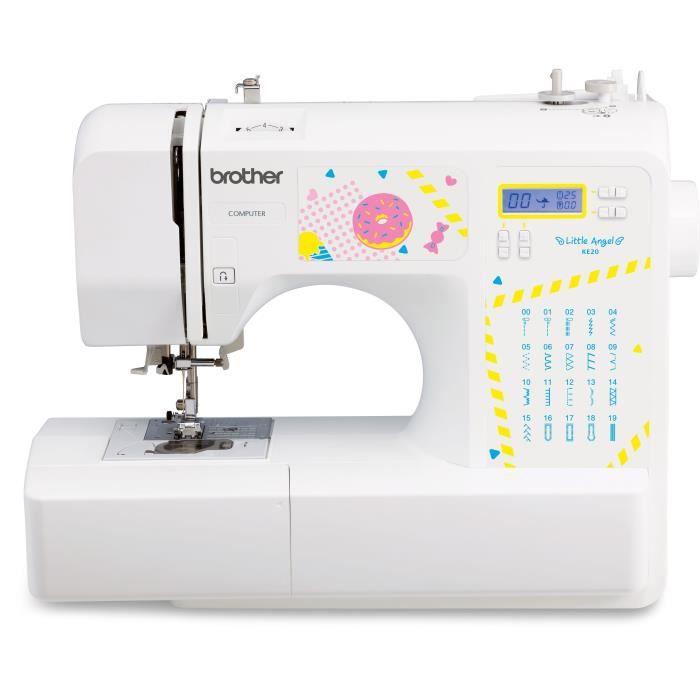 BROTHER KE20 – Machine à coudre électronique pour jeunes créatifs– 20 points de couture – Protège do