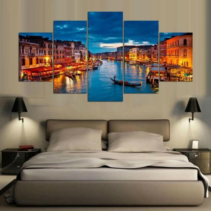 5 Panneaux Venise Italie Moderne Hd Art Toile Toile Art Mur