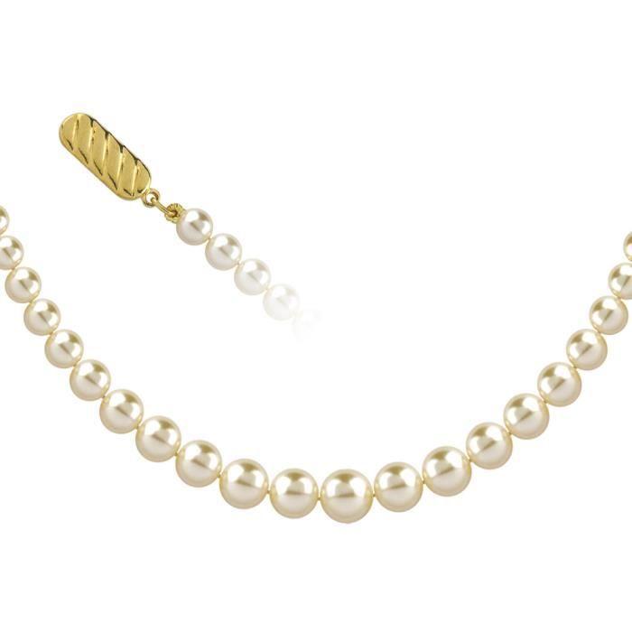 Jouailla - Collier perles - Blanc