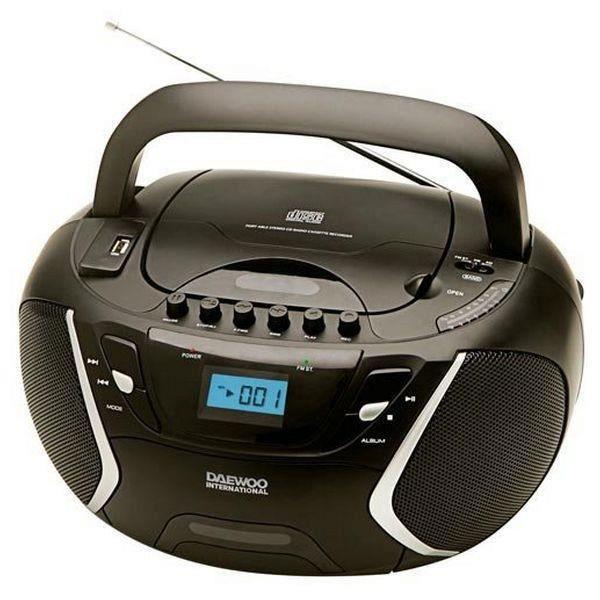 Radio Portable Cd Noir Fm - Qualité De Son Excellente Et Utilisation Facile