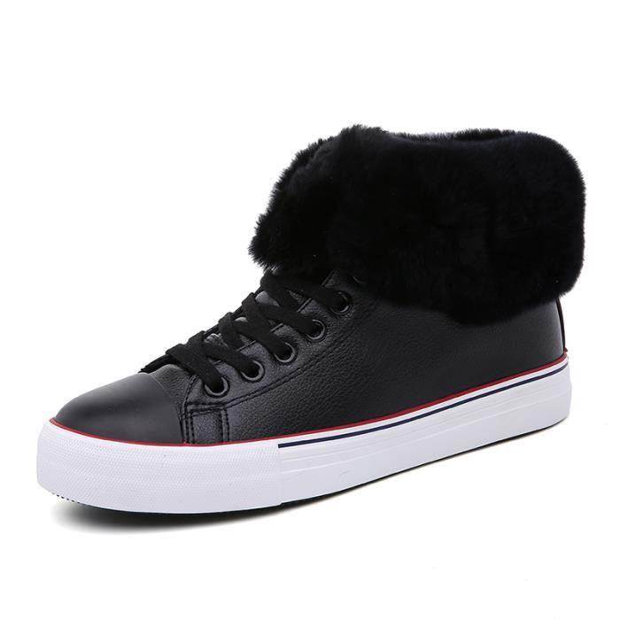 Bottes femme Bottes mode Bottes chaudement Bottes courtes Bottes avec coton Bottes hiver Chaussures femme Chaussures chaudement