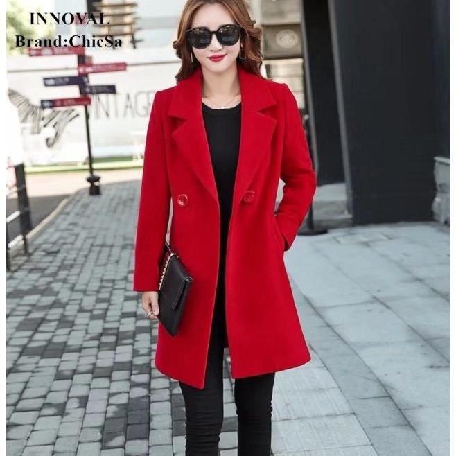 manteau cachemire femme achat vente manteau cachemire femme pas cher cdiscount. Black Bedroom Furniture Sets. Home Design Ideas