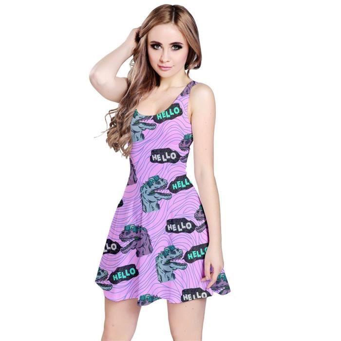 Craze manches courtes col v robe maxi de taille élastique SDO29